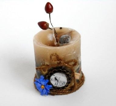 Spiced candle .  Free tutorial with pictures on how to make a candle in under 120 minutes by embellishing, melting, and  How To posted by Hira osman.  in the Other section Difficulty: Simple. Cost: Cheap. Steps: 6