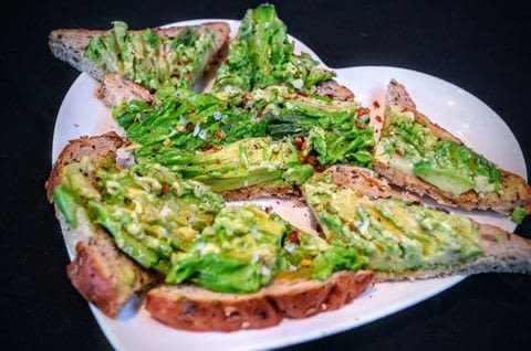Mashed avocado on toast with lime! .  Free tutorial with pictures on how to cook an avocado toast sandwich in under 5 minutes by cooking with avocado , lime, and bread. Recipe posted by Cat Morley.  in the Recipes section Difficulty: Simple. Cost: Cheap. Steps: 5