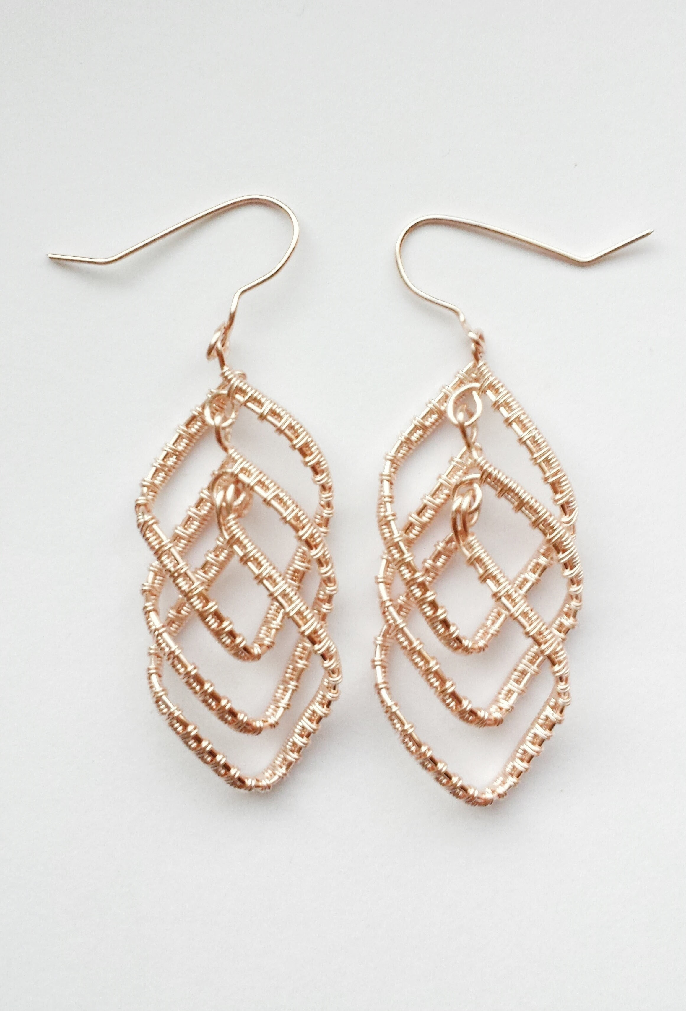 Cascading Diamond Earrings 183 How To Make A Pair Of Wire