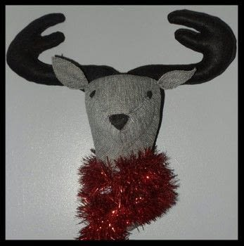 Black and grey stag wall mount .  Make a home textile in under 120 minutes by sewing, machine sewing, and embroidering with fabric, felt, and threads. Creation posted by sian d.  in the Sewing section Difficulty: Simple. Cost: Cheap.