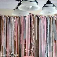 Fabric Garland Backdrop