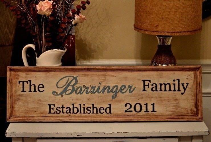 Wooden Family Sign 183 How To Make A Plaque Sign 183 Home