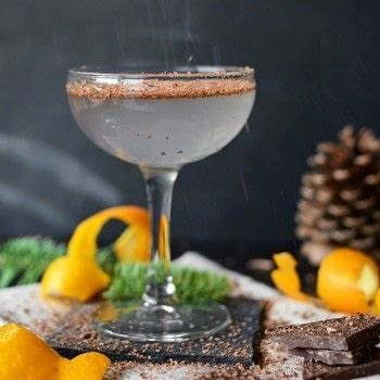 Chocolate Orange Cocktail  .  Mix a gin cocktail in under 2 minutes by mixing drinks with gin, cointreau, and orange bitters. Inspired by christmas, new year's eve, and chocolate. Creation posted by Rachel (Simple Seasonal).  in the Recipes section Difficulty: Easy. Cost: 4/5.