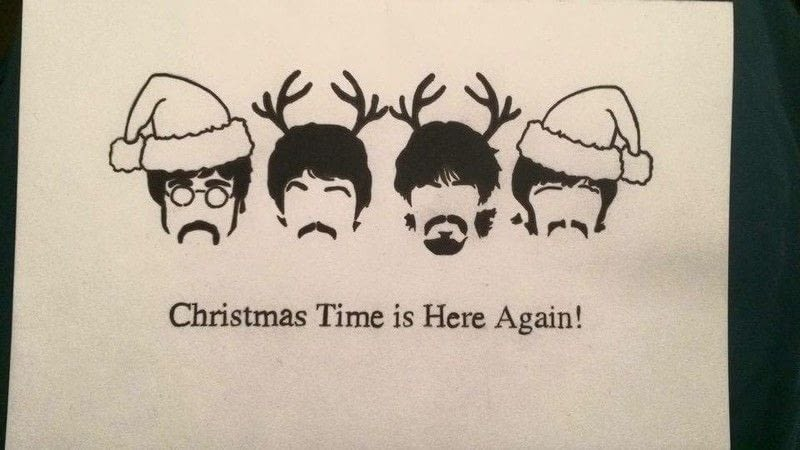 Beatles christmas cards google search christmas cards homemade photoshop christmas cards a greetings card papercraft m4hsunfo Choice Image
