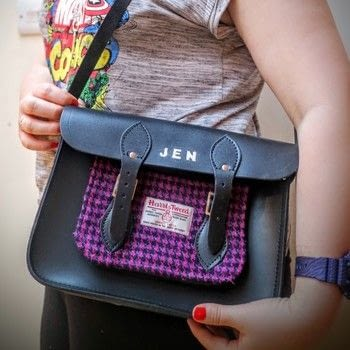 Decorate your satchel with your name and a Harris Tweed pocket. .  Free tutorial with pictures on how to make a satchel in under 120 minutes by decorating with satchel, paper, and tweed. How To posted by Cat Morley.  in the Sewing section Difficulty: Simple. Cost: Cheap. Steps: 21