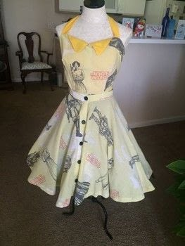 Pew Peeww! .  Make a dress by sewing, dressmaking, and machine sewing with sewing machine, needle and thread, and interfacing. Inspired by star wars and vintage & retro. Creation posted by PinkWeeds.  in the Sewing section Difficulty: 4/5. Cost: No cost.