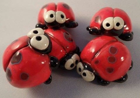 Quirky ladybugs .  Mold a clay animal by potting and  with clay, sculpting tools, and kiln. Inspired by ladybirds. Creation posted by sian d.  in the Other section Difficulty: 3/5. Cost: 3/5.