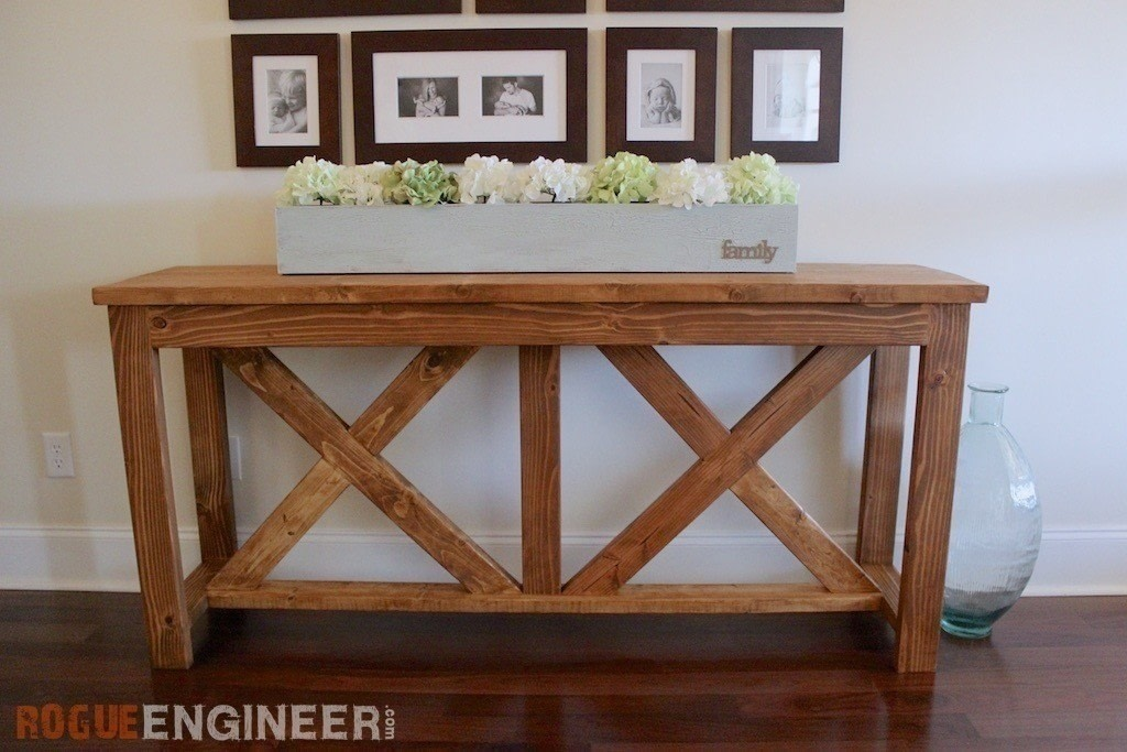 X brace console table how to make a side table home - Table console ancienne ...