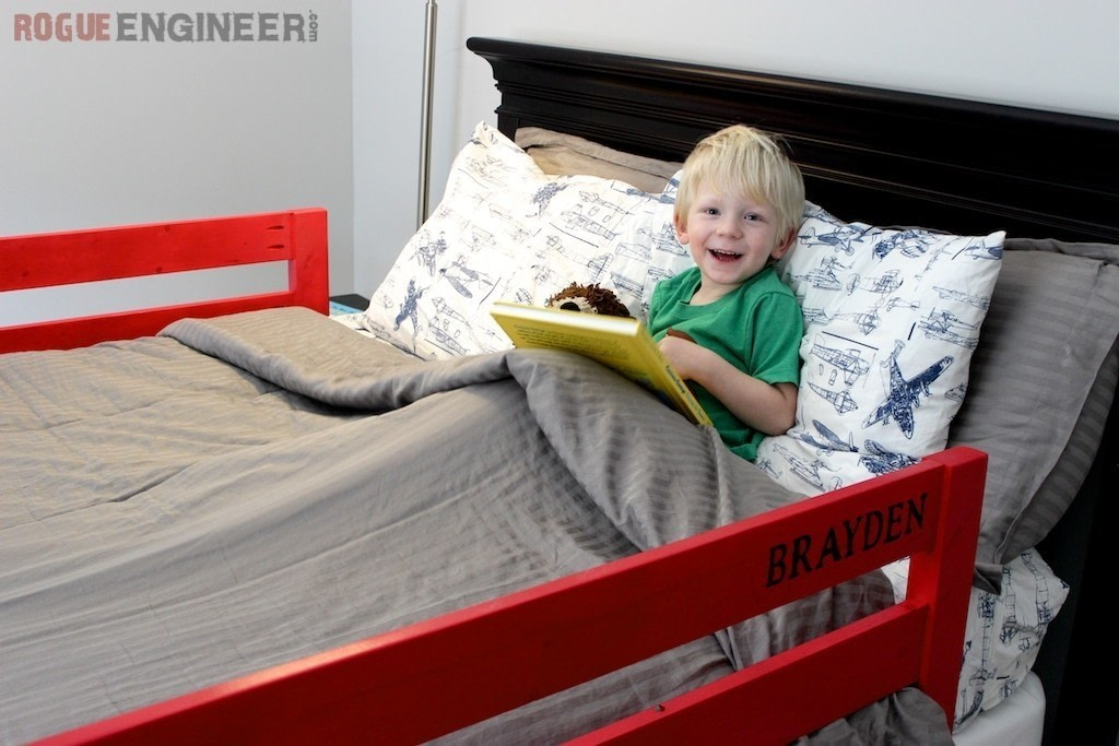 Toddler Bed Rails · How To Make A Bed · Home + DIY on Cut ...