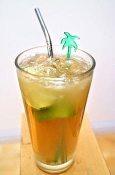 An alcoholic ice tea cocktail with rum, tequila and lime .  Free tutorial with pictures on how to mix an iced tea cocktail in under 5 minutes by mixing drinks with tequila, rum, and lime. Recipe posted by Cat Morley.  in the Recipes section Difficulty: Simple. Cost: Cheap. Steps: 5