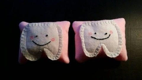 Tooth fairy aids .  Sew a cartoon plushie in under 30 minutes by sewing, hand sewing, and machine sewing with felt, felt, and embroidery thread. Creation posted by LoupLou.  in the Sewing section Difficulty: Easy. Cost: Cheap.
