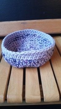 Quick storage solution .  Sew a fabric basket in under 60 minutes by crocheting with wool. Creation posted by LoupLou.  in the Yarncraft section Difficulty: Easy. Cost: Absolutley free.
