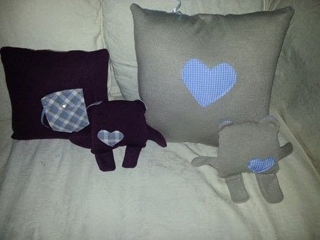 Remembering a loved one  .  Make an embellished cushion in under 60 minutes by hand sewing and machine sewing with pads, shirt, and jumper. Creation posted by LoupLou.  in the Sewing section Difficulty: Simple. Cost: Absolutley free.