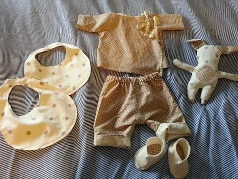 Make it special .  Make a piece of baby clothing in under 180 minutes by hand sewing and machine sewing with cotton fabric, fleece, and felt. Inspired by baby showers. Creation posted by LoupLou.  in the Sewing section Difficulty: 3/5. Cost: 3/5.