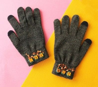 Groovy gloves! .  Make mittens in under 60 minutes by beading, embellishing, and hand sewing with scissors, beads, and embroidery floss. Inspired by anthropologie. Creation posted by Lindsey Crafter .  in the Needlework section Difficulty: Simple. Cost: 3/5.