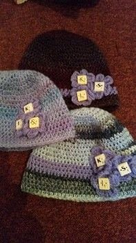 Initial Beanies .  Make a floral beanie in under 60 minutes by crocheting and hand sewing with wool, tiles, and drill. Creation posted by LoupLou.  in the Yarncraft section Difficulty: Simple. Cost: 3/5.