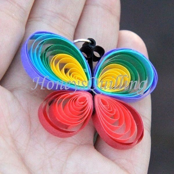 Paper Quilled Rainbow Butterfly How To Make A Set Of Paper