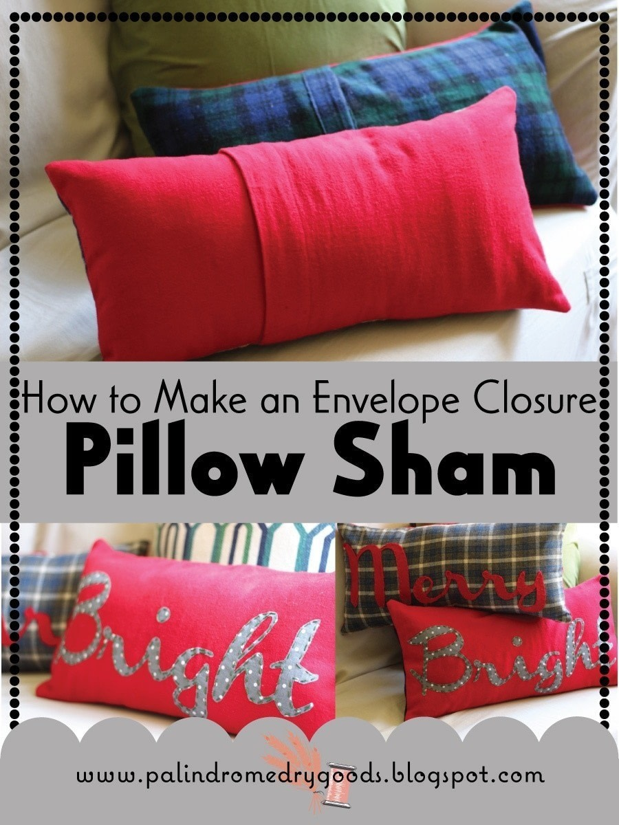 how to make an envelope closure pillow sham how to make a pillow cushion sewing on cut out. Black Bedroom Furniture Sets. Home Design Ideas