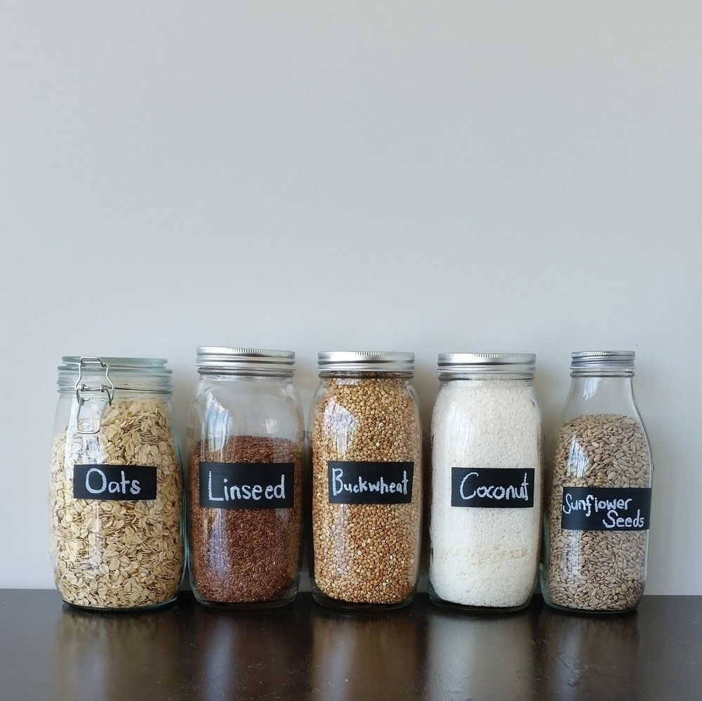 Painted Chalk Labels For Your Glass Jars How To Decorate A