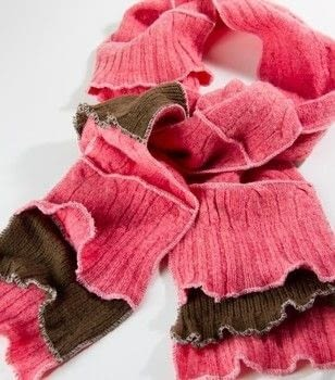Upcycled wool sweaters make the best scrappy scarf .  Free tutorial with pictures on how to make a scarf in under 120 minutes using sweater and serger. How To posted by Cynthia S.  in the Sewing section Difficulty: Easy. Cost: Cheap. Steps: 4