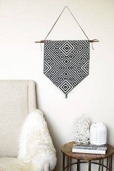 DIY Wall Hanging .  Free tutorial with pictures on how to make a hanging in under 20 minutes using twine, dowel, and liquid stitch. Inspired by aztec. How To posted by Fariha H.  in the Home + DIY section Difficulty: Easy. Cost: Absolutley free. Steps: 3