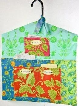 Get your receipts organized and ready for tax day! .  Free tutorial with pictures on how to make a wall tidy storage unit in under 120 minutes by sewing with hanger and cotton fabric. How To posted by Cynthia S.  in the Sewing section Difficulty: Simple. Cost: Cheap. Steps: 12