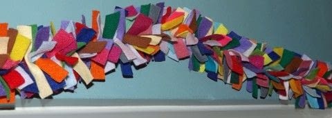 Ideal Scrap Buster .  Make a garland in under 120 minutes by sewing with felt and crochet cotton. Creation posted by PixieFey.  in the Sewing section Difficulty: Easy. Cost: Absolutley free.