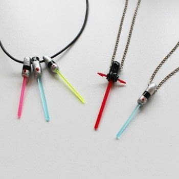 Show your love for Star Wars wherever you go! .  Free tutorial with pictures on how to make a pendant necklace in under 120 minutes using cocktail sticks, polymer clay, and nail polish. Inspired by star wars. How To posted by Lauren.  in the Jewelry section Difficulty: Easy. Cost: Absolutley free. Steps: 1