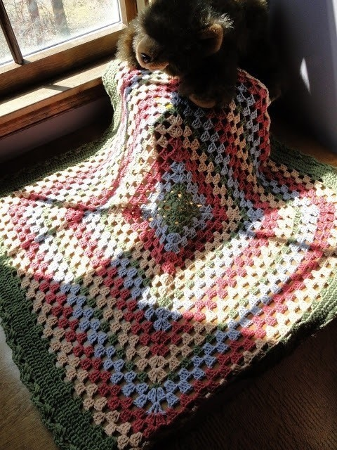 Giant Granny Square Baby Blanket 183 How To Crochet A Granny