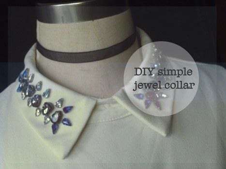 Simple and easy DIY of jewel collar .  Free tutorial with pictures on how to make a shirt collar in under 120 minutes by hand sewing with gemstone, threads, and needle. Inspired by inspiration. How To posted by AG.  in the Needlework section Difficulty: Easy. Cost: Cheap. Steps: 3