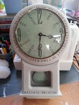 You can't beat a bit of Upcycling .  Make a recycled clock in under 180 minutes by decorating, embellishing, collage, decoupaging, and stamping with clock, paint, and decoupage paper. Creation posted by LoupLou.  in the Home + DIY section Difficulty: Easy. Cost: Absolutley free.