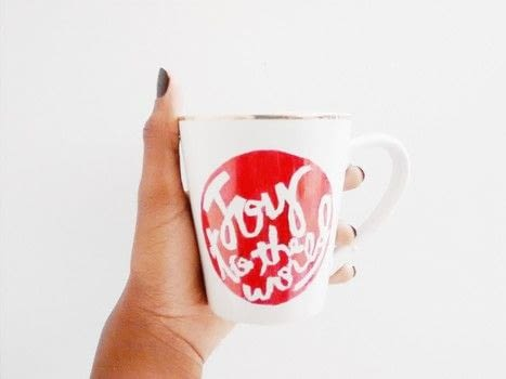 .  Free tutorial with pictures on how to make a cup / mug in under 60 minutes using contact paper, sharpie markers , and xacto knife. Inspired by kitchen, christmas, and tea cup. How To posted by Timia L.  in the Home + DIY section Difficulty: Easy. Cost: Absolutley free. Steps: 3