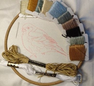This video is a time lapse film of stitching this chaffinch .  Free tutorial with pictures on how to embroider art in under 29 minutes by needleworking, embroidering, sewing, and hand sewing with fabric, stranded cotton, and needle. Inspired by animals and birds. How To posted by CraftJitsu.  in the Needlework section Difficulty: Simple. Cost: No cost. Steps: 3