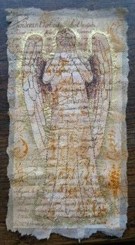 Weeping Angel from Dr Who video .  Free tutorial with pictures on how to embroider art in under 9 minutes using sewing machine, stampers, and tea bag. How To posted by CraftJitsu.  in the Needlework section Difficulty: Easy. Cost: Absolutley free. Steps: 1