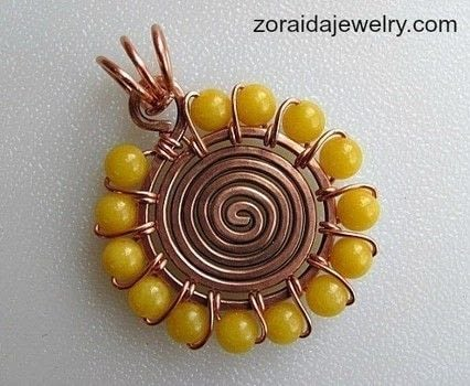 Beaded Spiral Pendant Tutorial  .  Free tutorial with pictures on how to make a wire wrapped pendant in under 60 minutes by jewelrymaking and wireworking with wire, wire, and wire. How To posted by zoraida.bros.  in the Jewelry section Difficulty: Easy. Cost: No cost. Steps: 14