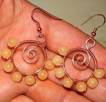 How to Make Spiraled Bead and Wire Earrings  .  Free tutorial with pictures on how to make a pair of wire earrings in under 60 minutes by jewelrymaking and wireworking with beads, earring hooks, and wire cutters. How To posted by zoraida.bros.  in the Jewelry section Difficulty: Easy. Cost: No cost. Steps: 8
