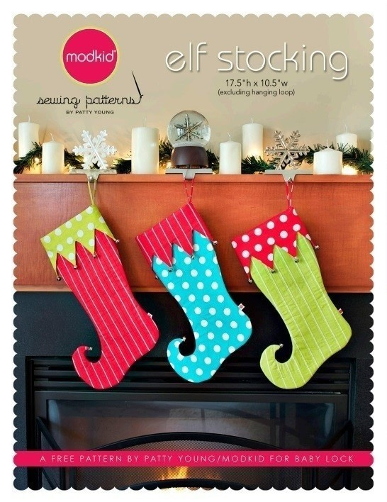 Elf Stocking By Modkid How To Make A Christmas Stocking Sewing