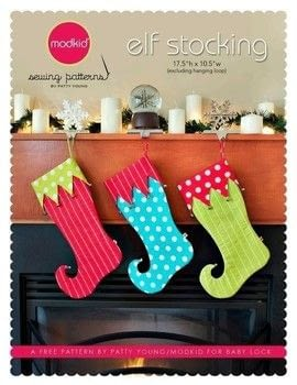 Whimsical Elf Stocking Pattern .  Free tutorial with pictures on how to make a Christmas stocking in under 120 minutes by sewing with fabric, fabric, and fusible fleece. Inspired by christmas and elves. How To posted by Patty Y.  in the Sewing section Difficulty: Simple. Cost: No cost. Steps: 9