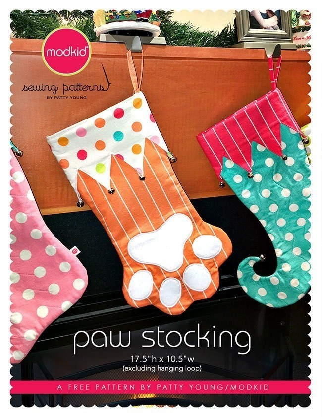 Paw Stocking By Modkid 183 How To Make A Christmas Stocking