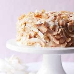 Coconut Rose Cake With Whipped Vanilla Coconut Cream