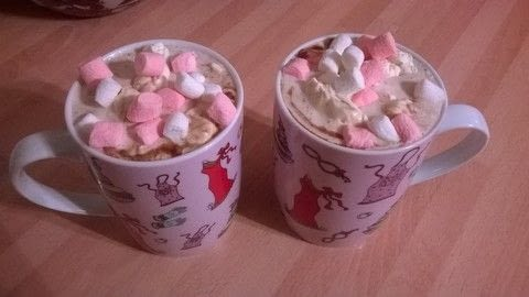 Home made hot chocolate  .  Free tutorial with pictures on how to make a hot chocolate in under 15 minutes by cooking with butter, corn flour, and sugar. Recipe posted by Super Madcow.  in the Recipes section Difficulty: Easy. Cost: Cheap. Steps: 9