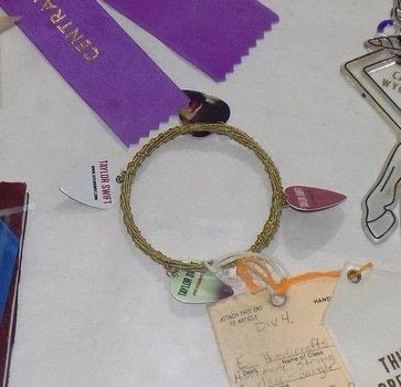 Use your old strings to make something pretty instead of trashing them .  Free tutorial with pictures on how to make a guitar string bracelet in under 30 minutes by jewelrymaking with guitar string, plectrum, and jump rings. How To posted by Pammie.  in the Jewelry section Difficulty: Easy. Cost: No cost. Steps: 6