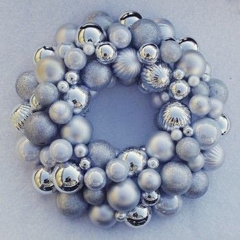 Wreath christmas  .  Free tutorial with pictures on how to make a bauble wreath in under 60 minutes using hot glue gun sticks, hot glue gun, and styrofoam ring. Inspired by christmas. How To posted by Gunhild N. .  in the Home + DIY section Difficulty: Simple. Cost: Cheap. Steps: 3