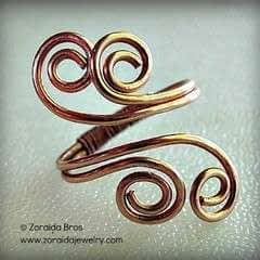 Easy Adjustable Spiral Ring Tutorial