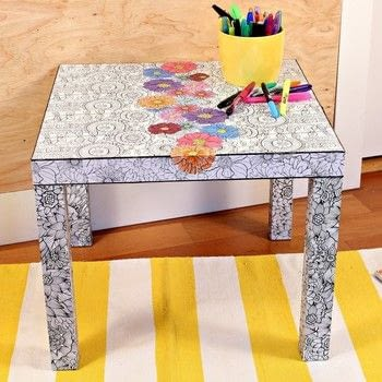 Adult Coloring Book Ikea Hack · How To Make A Side Table ...