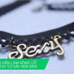 Necklace & Bracelet From Black Lace