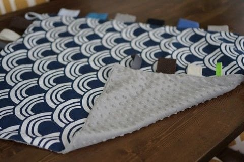 Make a baby tag blanket! .  Free tutorial with pictures on how to make a quilted blanket in under 90 minutes using fabric, thread, and sewing machine. How To posted by Bernice.  in the Sewing section Difficulty: Easy. Cost: Absolutley free. Steps: 5