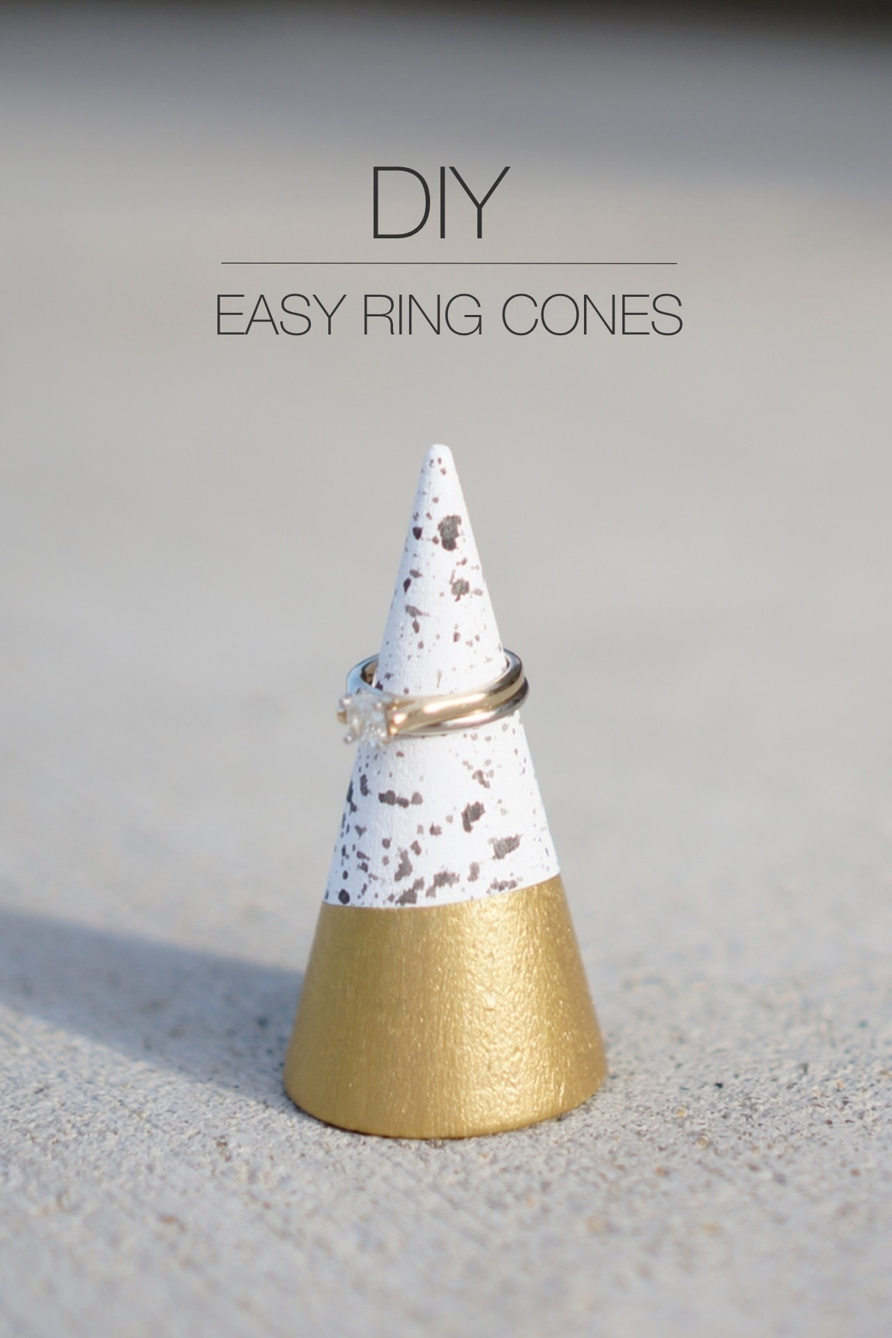 Pretty DIY Cones For Storing And Displaying Your Rings images