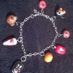 Clay Charm Bracelet & earings