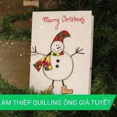 Quilling Snowman Card For Christmas